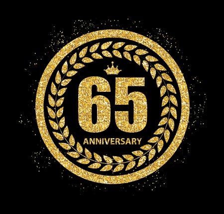 65: Template 65 Years Anniversary Vector Illustration Illustration