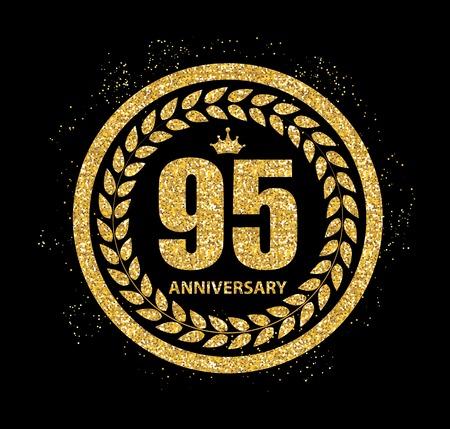 95: Template  95 Years Anniversary Vector Illustration Illustration