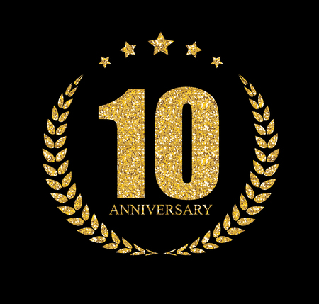 Template 10 Years Anniversary Vector Illustration Illustration