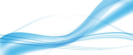 Abstract Blue Wave Set on Transparent  Background. Vector Illustration. Stock Illustratie