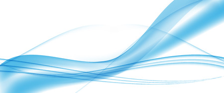 Abstract Blue Wave Set on Transparent  Background. Vector Illustration. Vectores