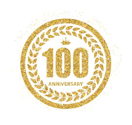 selebration: Template  100 Years Anniversary Vector Illustration