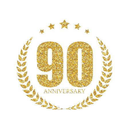 Szablon 90 lat rocznica ilustracji wektorowych