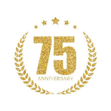 70 years: Template  70 Years Anniversary Vector Illustration