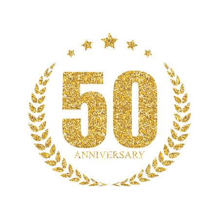 50 years: Template 50 Years Anniversary Vector Illustration