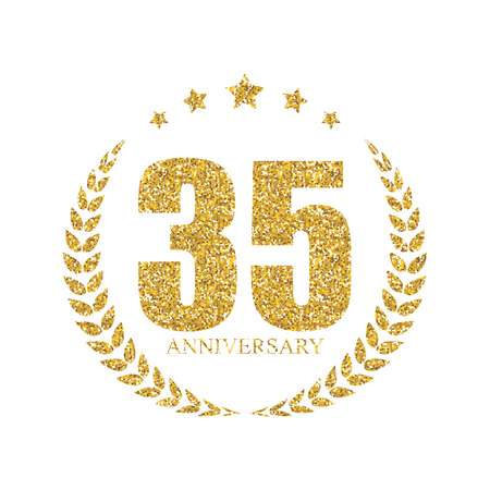 35: Template 35 Years Anniversary Vector Illustration Illustration