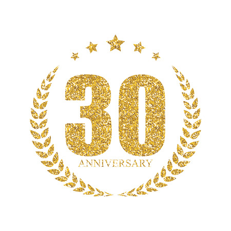 selebration: Template 30 Years Anniversary Vector Illustration Illustration
