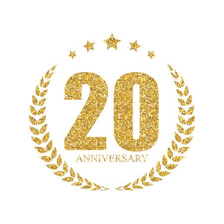 Sjabloon 20 Years Anniversary Vector Illustration Stock Illustratie
