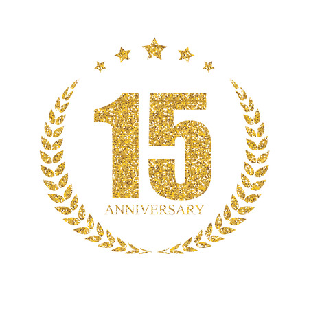 selebration: Template 15 Years Anniversary Vector Illustration