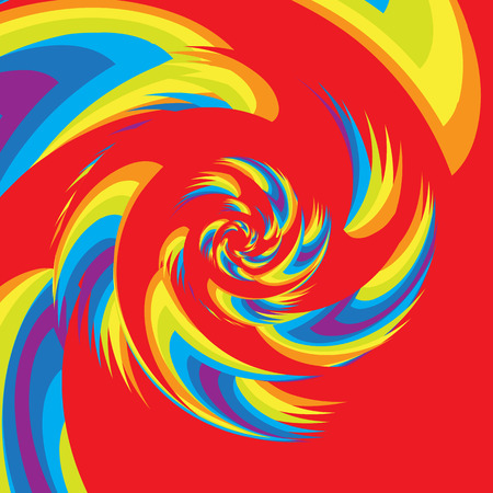 Colorful Abstract Psychedelic Art Background. Vector Illustration. Illustration