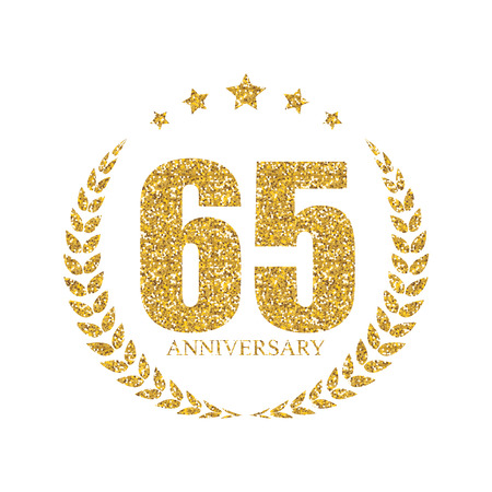 selebration: Template 65 Years Anniversary Vector Illustration Stock Photo