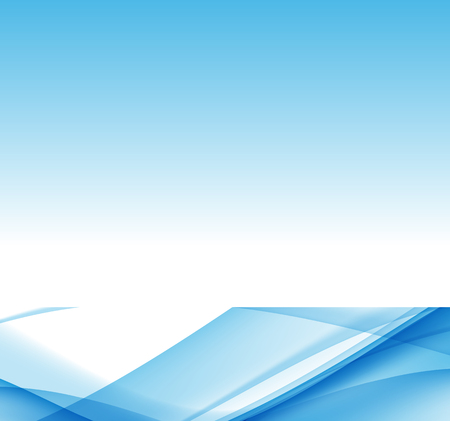 Abstract Blue Wave Set on Transparent Background. Vector Illustration.