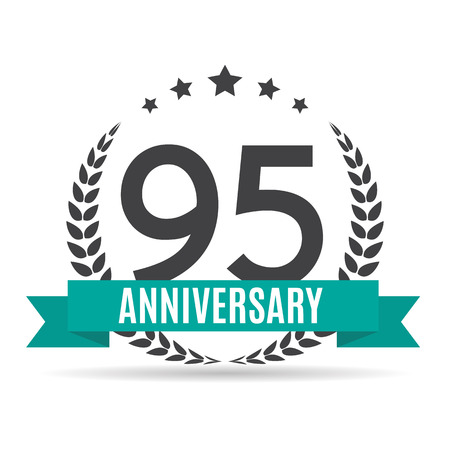 selebration: Template  95 Years Anniversary Vector Illustration Illustration