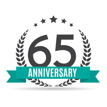 Template  65 Years Anniversary Vector Illustration