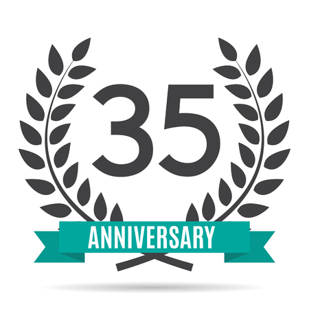 35: Template  35 Years Anniversary Vector Illustration