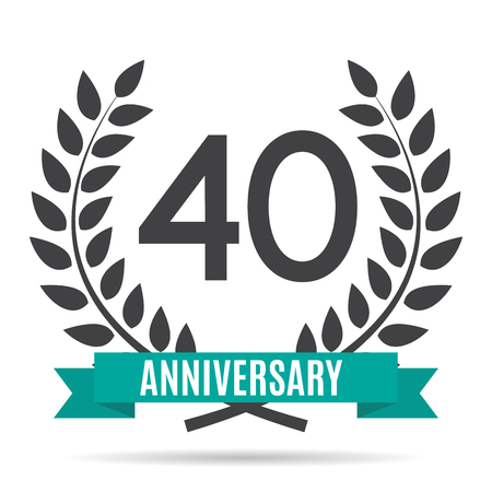selebration: Template  40 Years Anniversary Vector Illustration Illustration