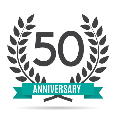 selebration: Template  50 Years Anniversary Vector Illustration