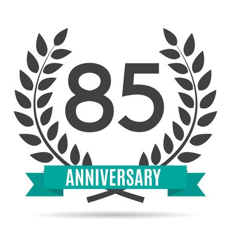 Template  85 Years Anniversary Vector Illustration