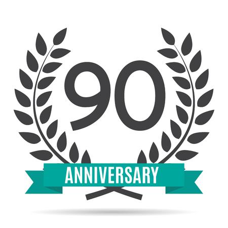 Template  90 Years Anniversary Vector Illustration