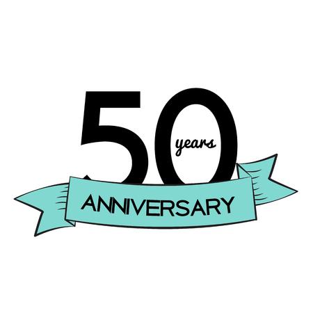 50 years anniversary: Template  50 Years Anniversary Vector Illustration