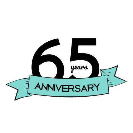 selebration: Template   65 Years Anniversary Vector Illustration