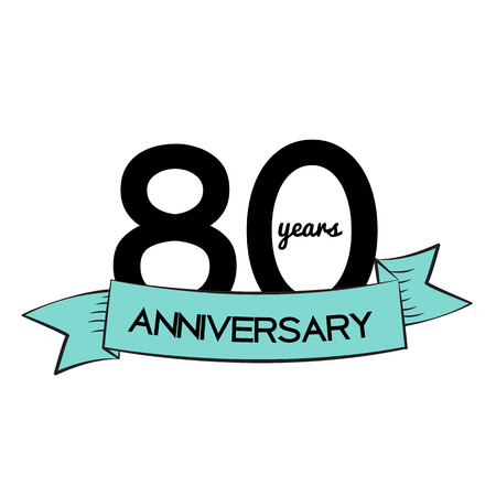 selebration: Template  80 Years Anniversary Vector Illustration Illustration