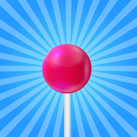 Realistic Sweet Lollipop Candy Background. Vector Illustration