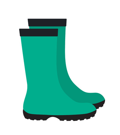 rubber boots: Insulated Rubber Boots Icon Vector Illustration