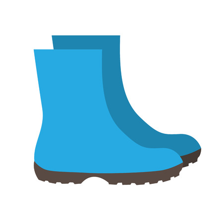 gumboots: Insulated Rubber Boots Icon Vector Illustration