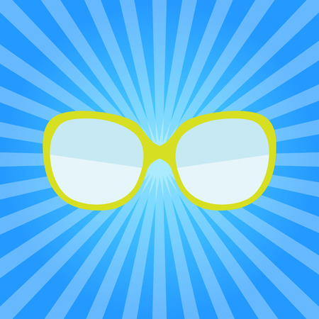 Hipster Summer Sunglasses Fashion Glasses Icon Vector Illustration