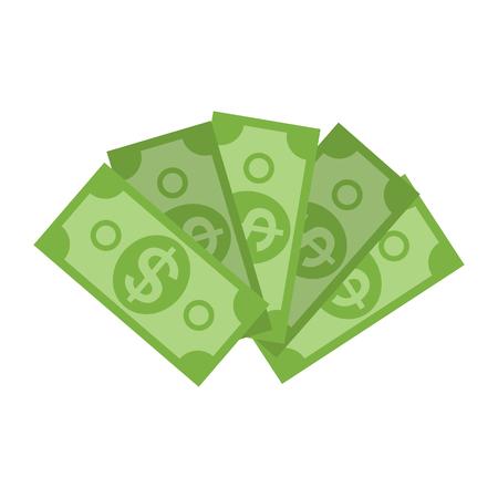US Dollar Stack Paper Banknotes  Icon Sign Business Finance Money Concept Vector Illustration Illustration