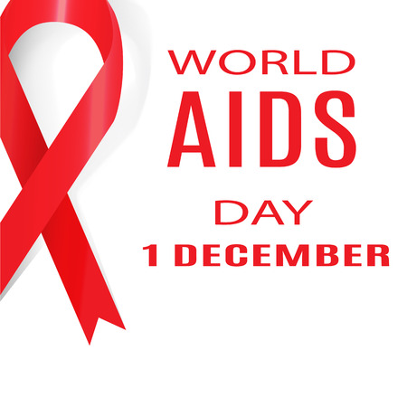 aids: World AIDS Day. 1 December. Vector Illustration.