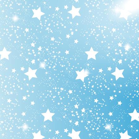 Starry Sky on Blue Background.