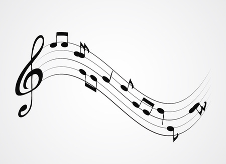 Abstract music background vector illustration for your design. Illustration