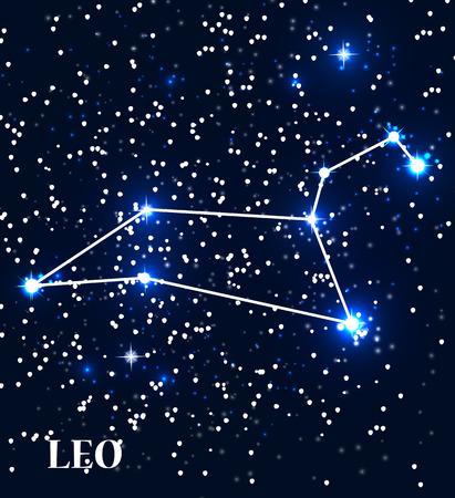 Symbol Leo Zodiac Sign. Vector Illustration. Ilustração