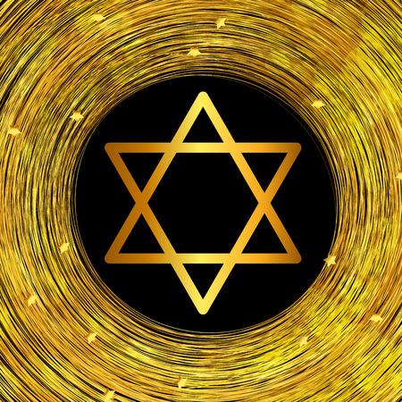 jewish holiday: Happy Hanukkah, Jewish Holiday Background. Vector Illustration. Hanukkah is the name of the Jewish holiday. Illustration