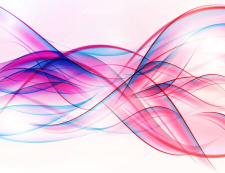 Abstract Colored Wave on  Background. Vector Illustration. EPS10