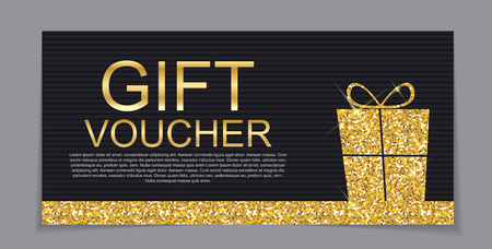 Cadeaubon Template voor Kerstmis en Nieuwjaar Kortingsbon Vector Illustration EPS10 Stock Illustratie