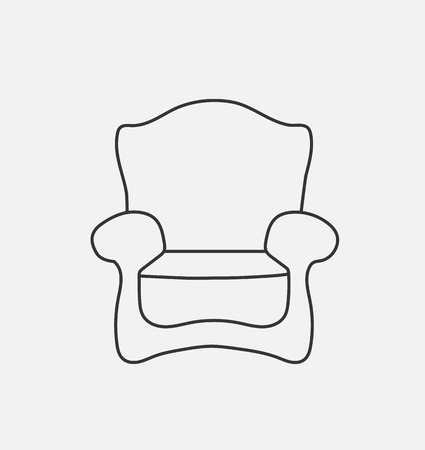 schematically: Schematically chair. Modern Flat style Vector Illustration. Illustration
