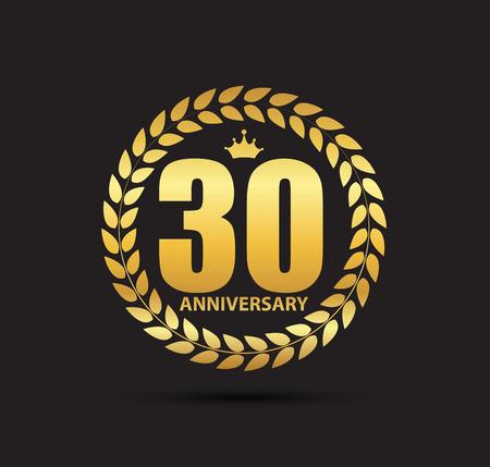 Template 30 Years Anniversary Vector Illustration Illustration