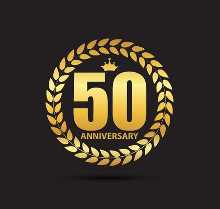 Template 50 Years Anniversary Vector Illustration