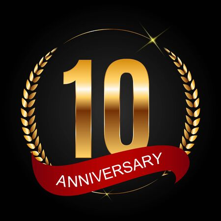 Template 10 Years Anniversary Vector Illustration Illustration