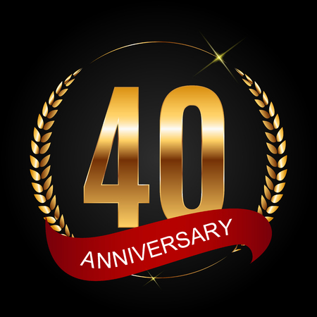 Template  40 Years Anniversary Vector Illustration Illustration
