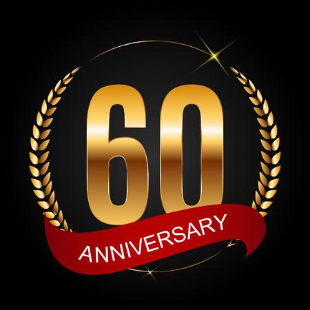Template 60 Years Anniversary Vector Illustration Illustration