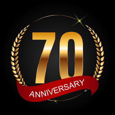 selebration: Template 70 Years Anniversary Vector Illustration