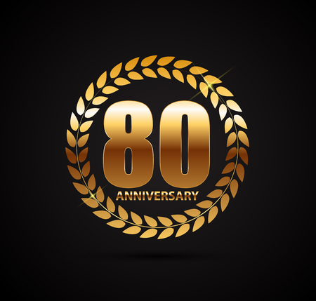 80 years: Template 80 Years Anniversary Vector Illustration Illustration