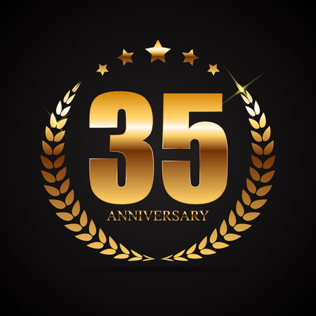 Template  35 Years Anniversary Vector Illustration