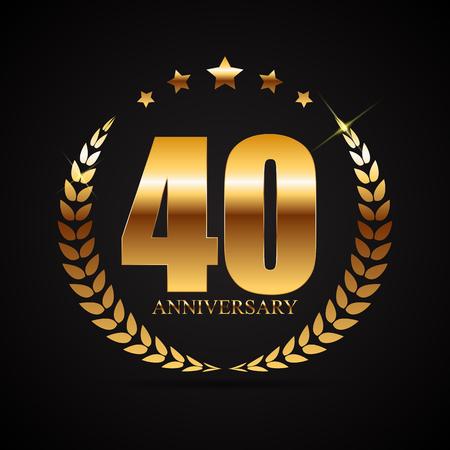 Template 40 Years Anniversary Vector Illustration Illustration
