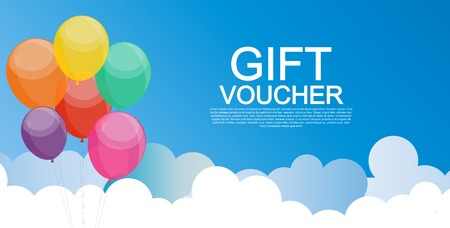 Gift Voucher Template for Discount Coupon  Vector Illustration Illustration