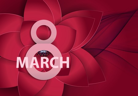 Poster International Happy Women s Day 8 March Floral Greeting